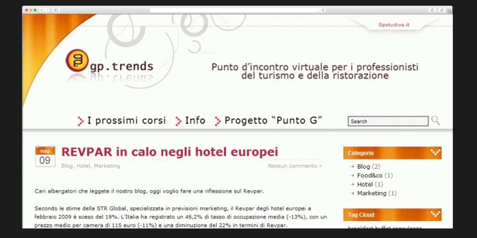 Realizzazione sito web per professionisti del turismo