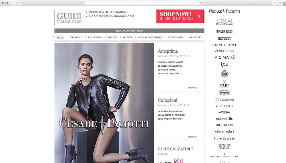 Realizzazione e-commerce vendita calzature
