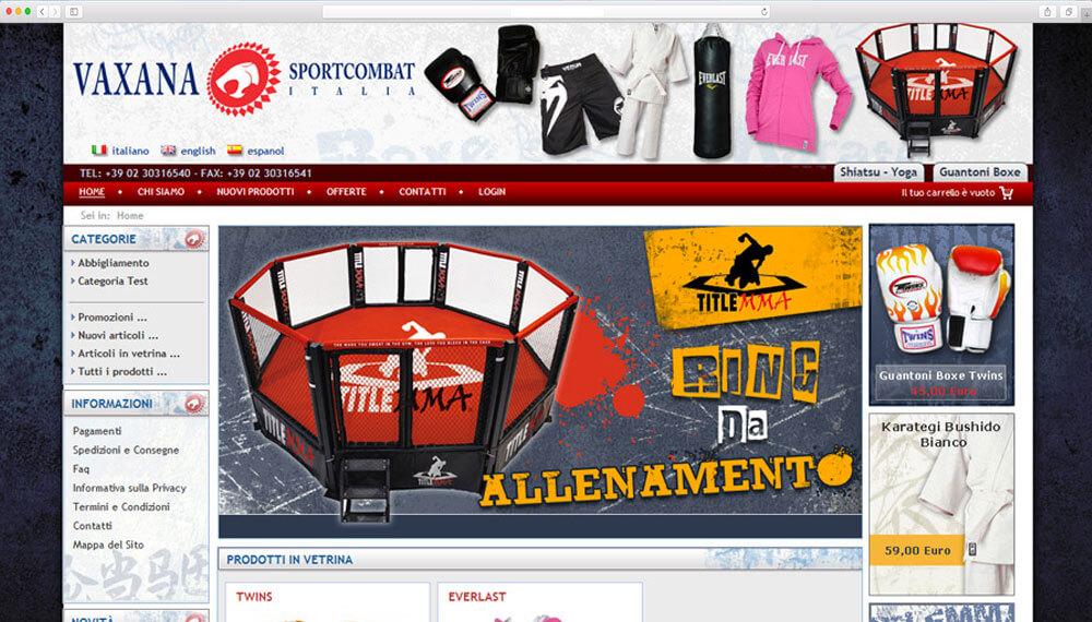 realizzazione e-commerce sportcombact