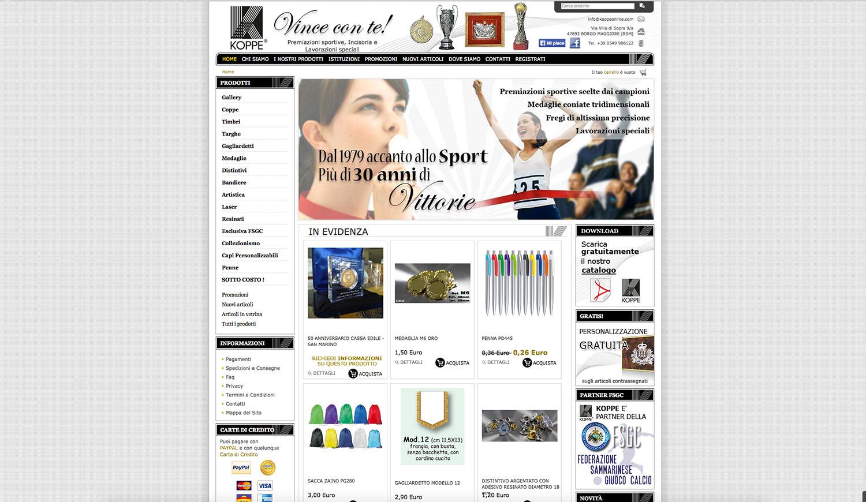 Realizzazione e-commerce prodotti sportivi