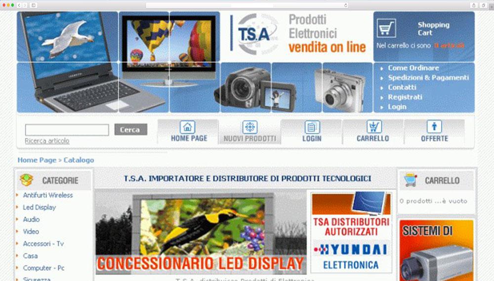 realizzazione sito internet azienda distributore prodotti tecnologici