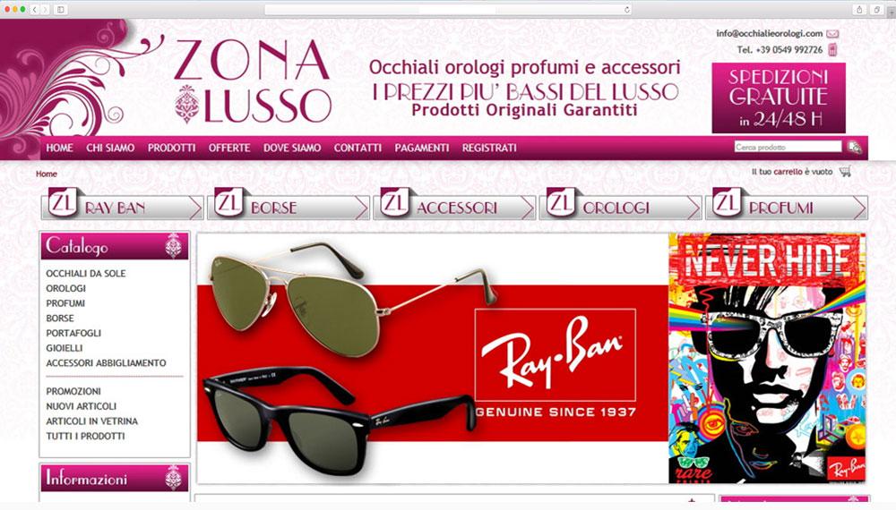 sviluppo e-commerce occhiali orologi