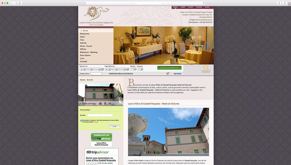 Sviluppo sito web per hotel a Piacenza