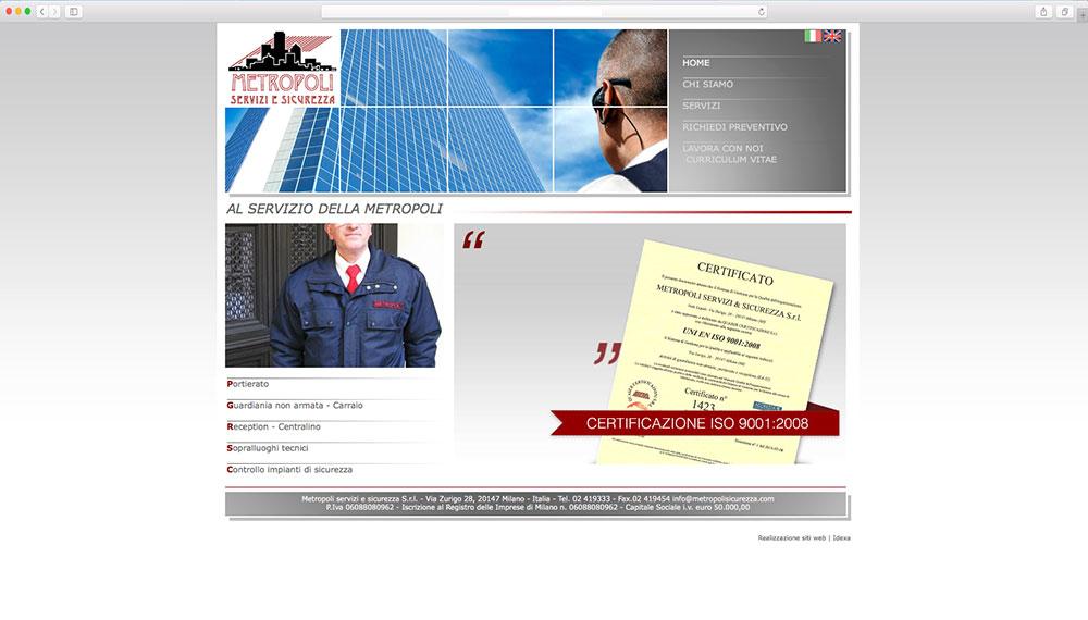 realizzazione sito web per agenzia di sicurezza