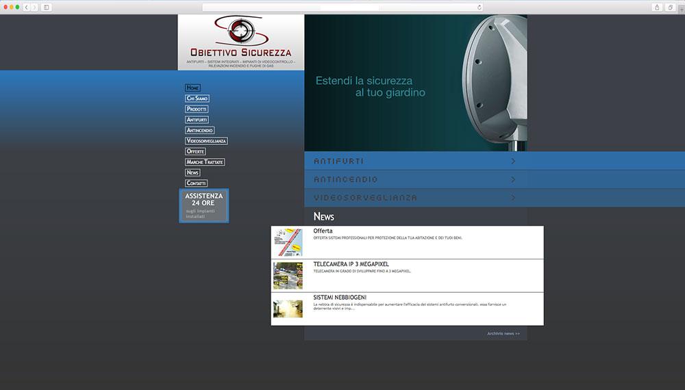 realizzazione sito web per azienda sicurezza