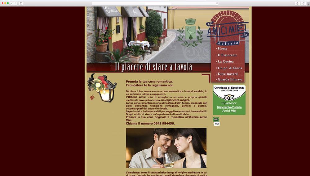realizzazione sito web per ristorante rimini