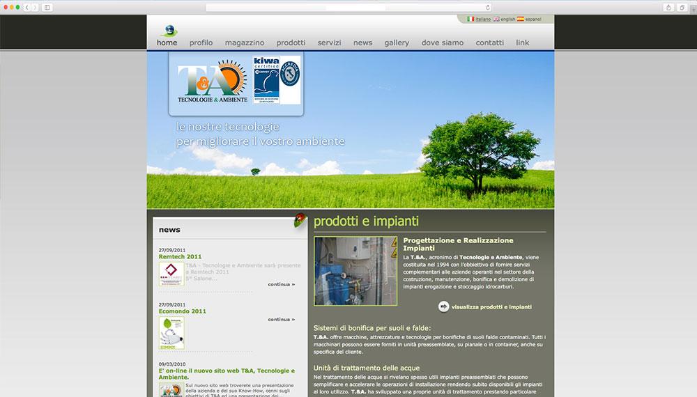 sviluppo sito web teconologie a eambiente