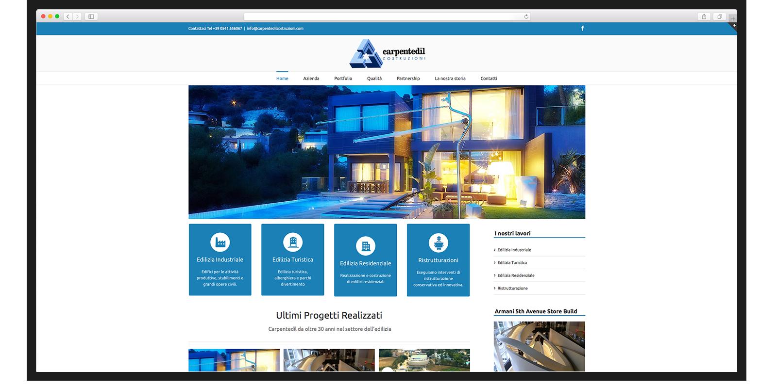 Realizzazione sito web aziendale per azienda di costruzioni