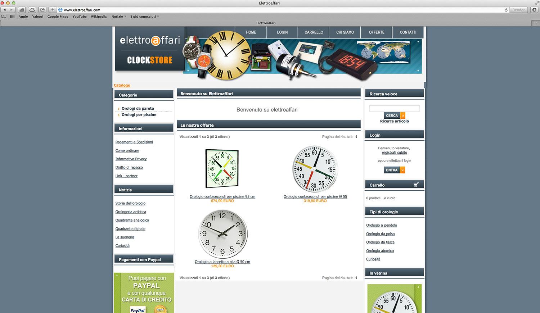 Realizzazione e-commerce orologi