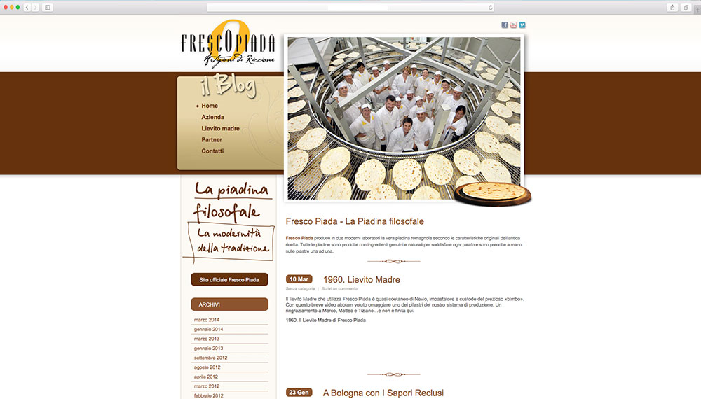 realizzazione sito web azienda piadina
