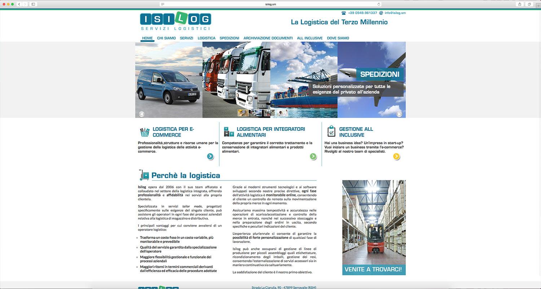 creazione sito web per servizi logistici