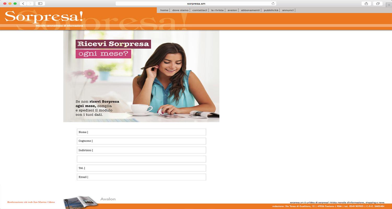 realizzazione portale informazioni sorpresa
