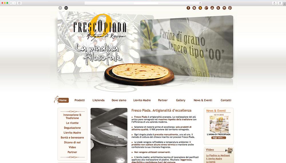 Sviluppo sito web azienda produttrice piada