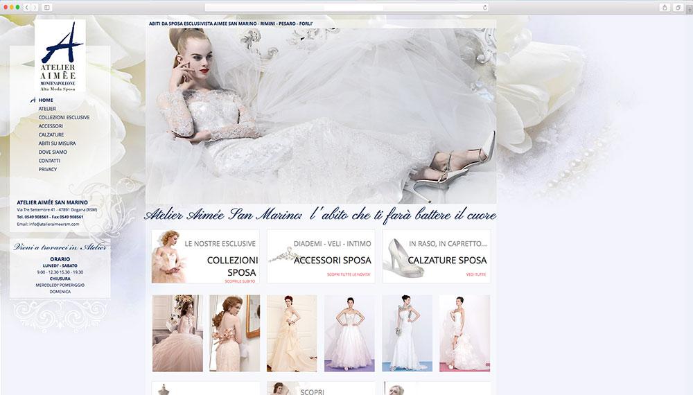 Sviluppo sito web per atelier della sposa