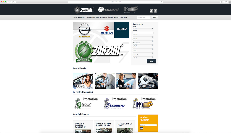 Realizzazione sito web aziendale per concessionario auto
