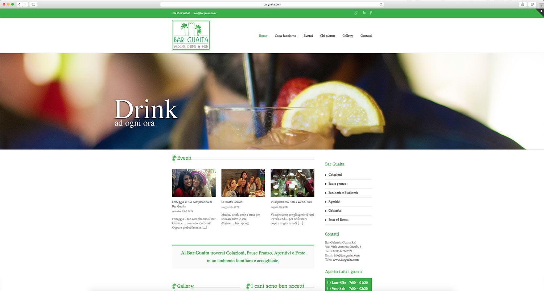 Sito web sviluppato per bar gelateria
