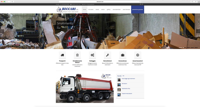 Sito web sviluppato per ditta di trasporti e smaltimento rifiuti