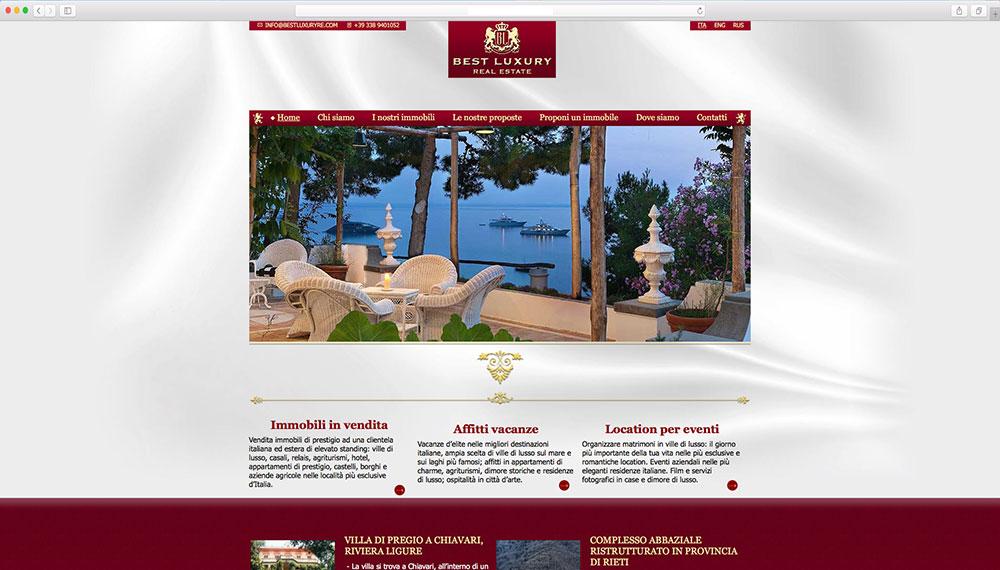 Sviluppo sito web per vendita immobili di lusso