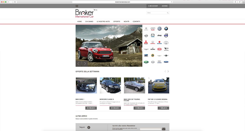 Realizzazione sito web per concessionario con shop integrato