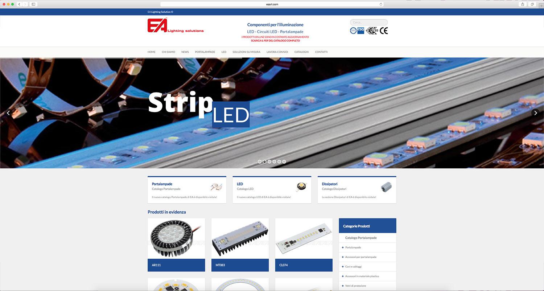 Sviluppo sito web azienda prodotti per l'illuminazione