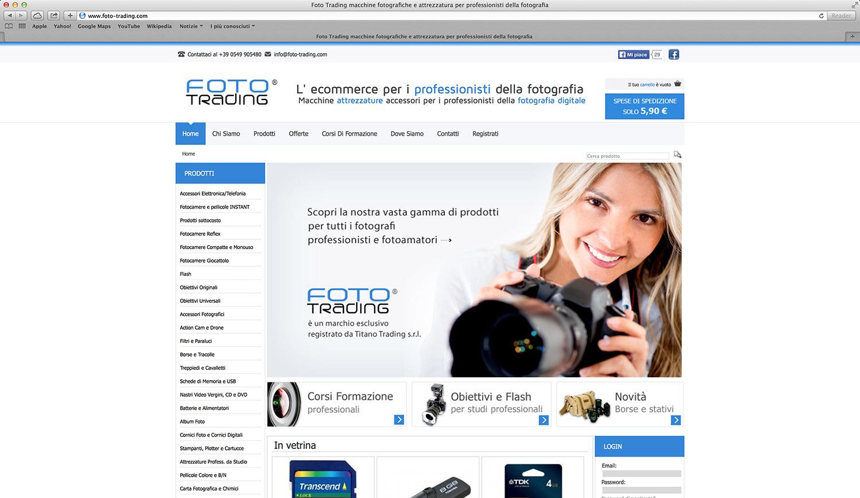 Realizzazione e-commerce prodotti fotografici