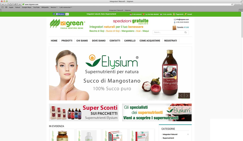 creazione shop online per prodotti naturali