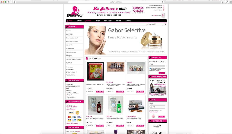 realizzazione shop online prodotti di bellezza