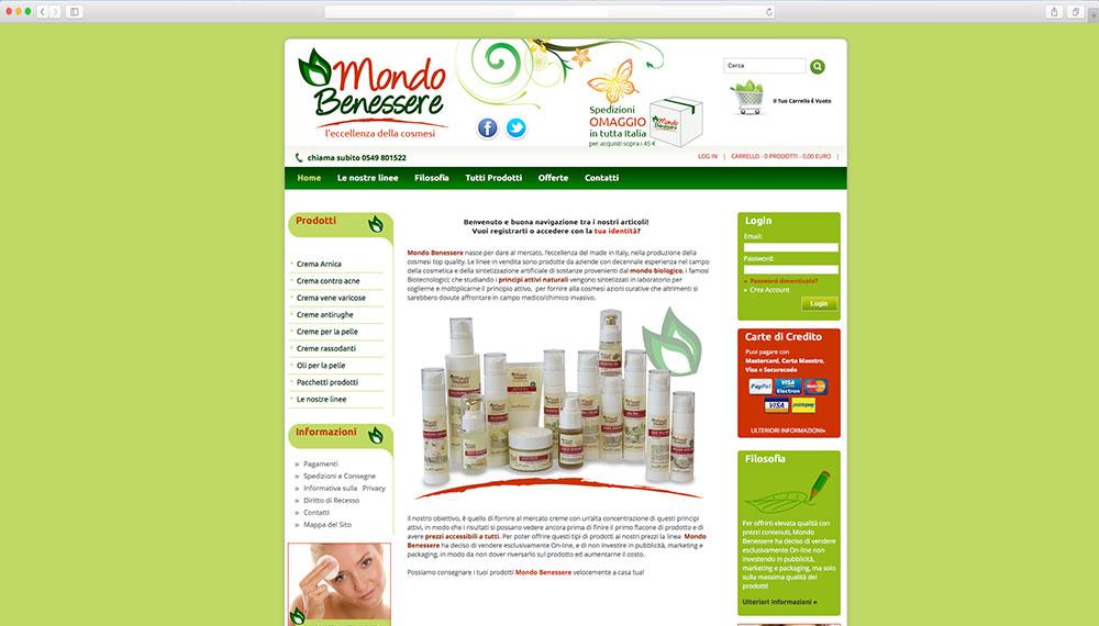 e-commerce prodotti per benessere