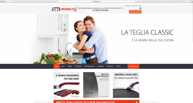 sviluppo e-commerce vendita pentole