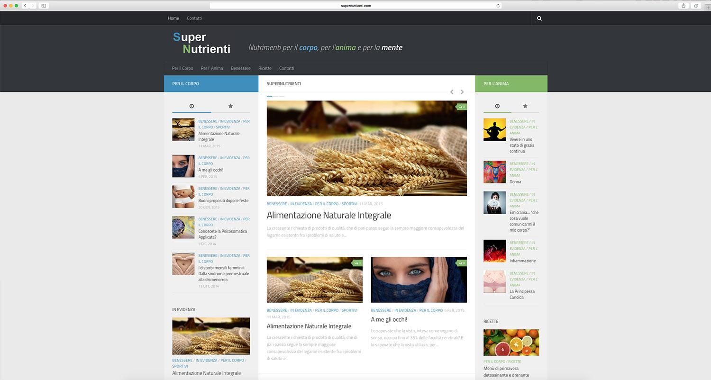 realizzazione sito web prodotti alimentazione