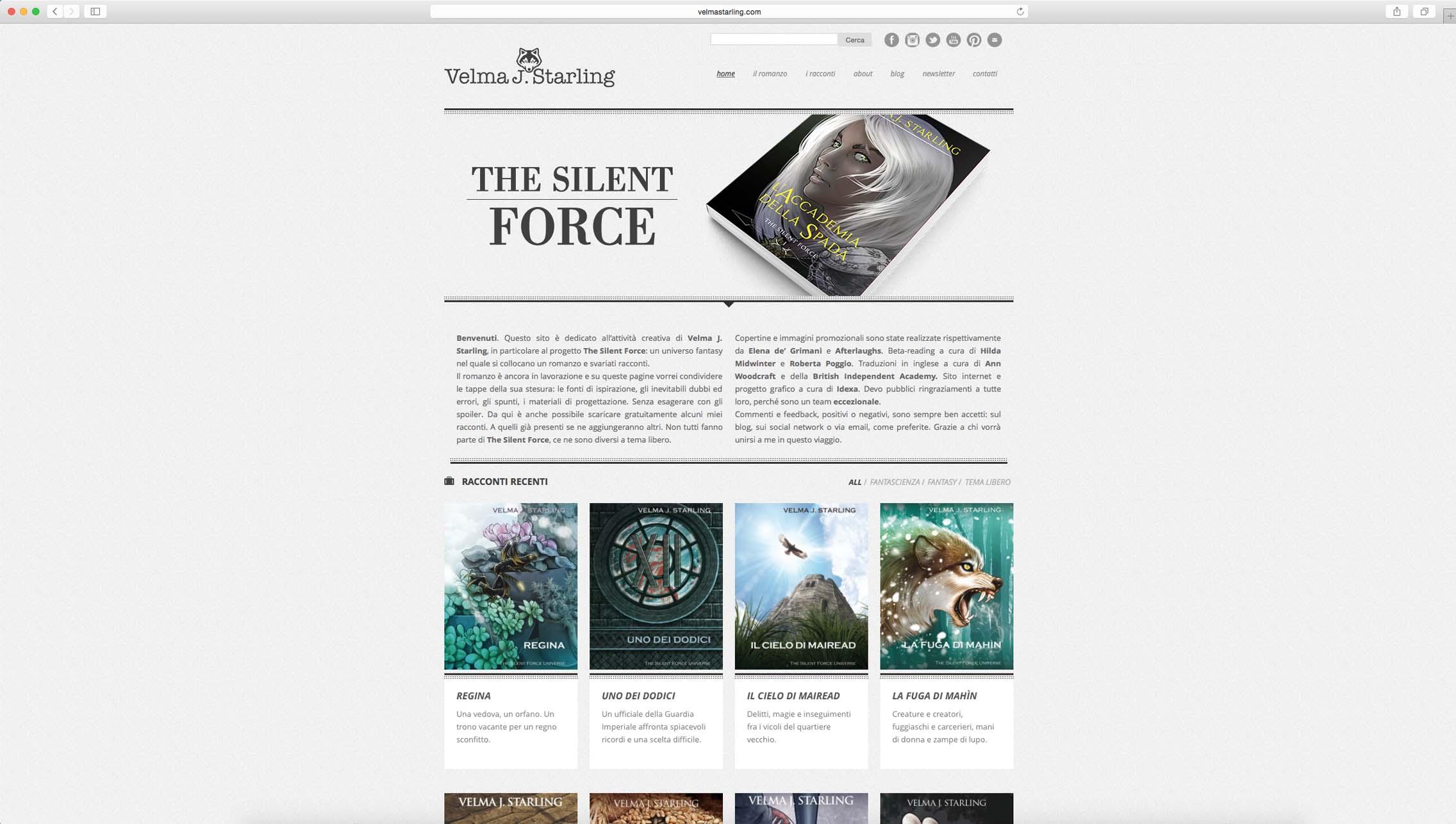 realizzazione sito web scrittrice fantasy
