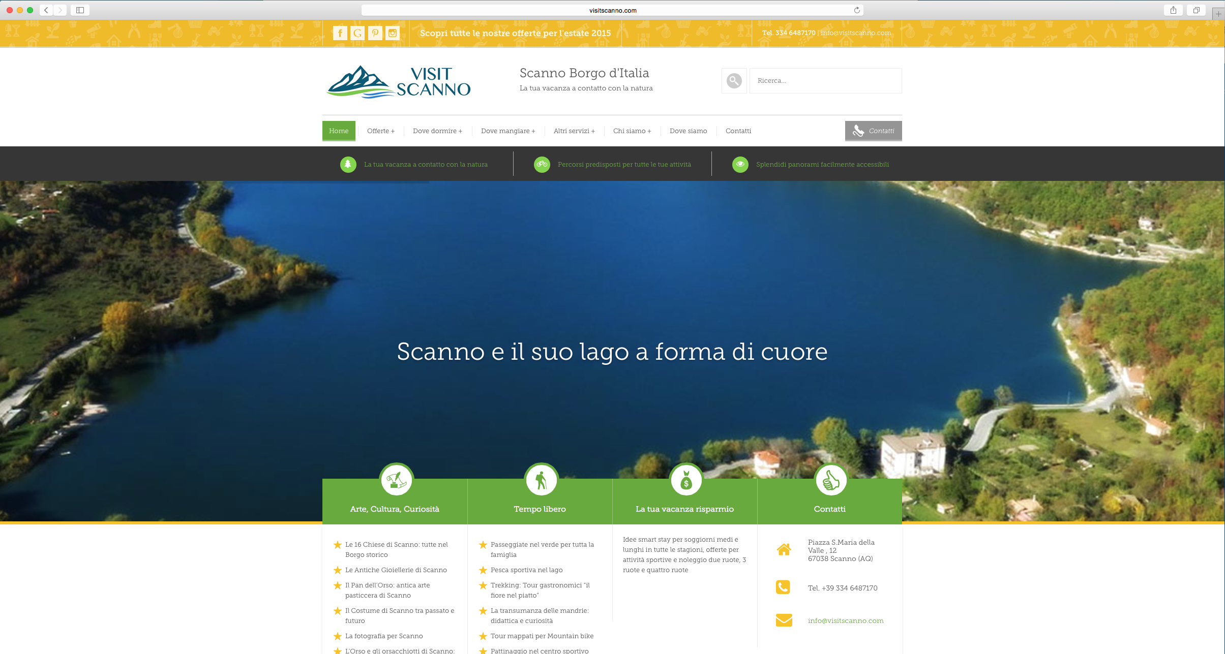realizzazione portale informazioni turistiche abruzzo