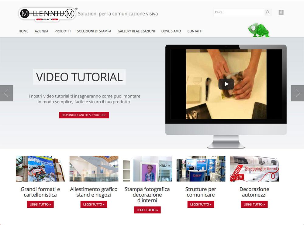 realizzazione sito web per azienda comunicazione e pubblicità