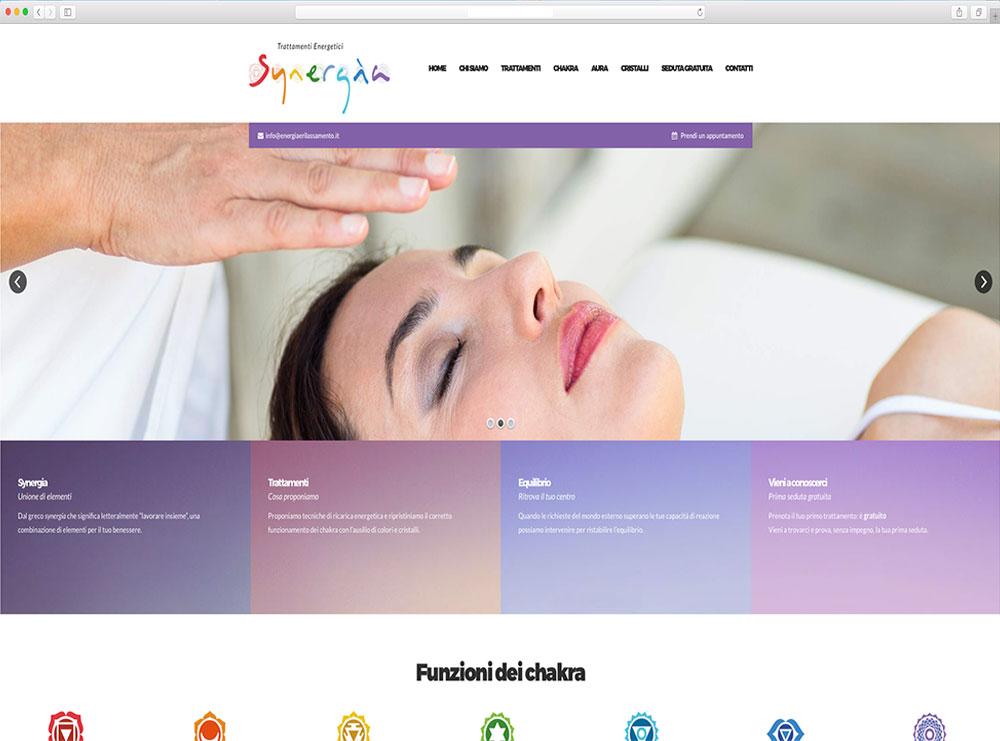 realizzazione sito web trattamenti olistici