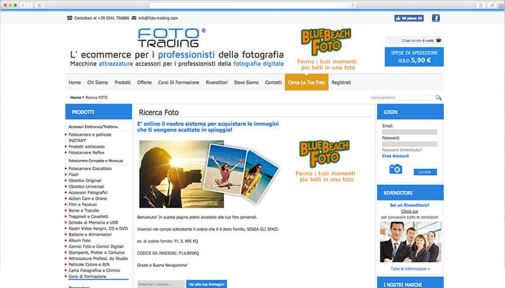 Sviluppo e-commerce professionisti fotografia