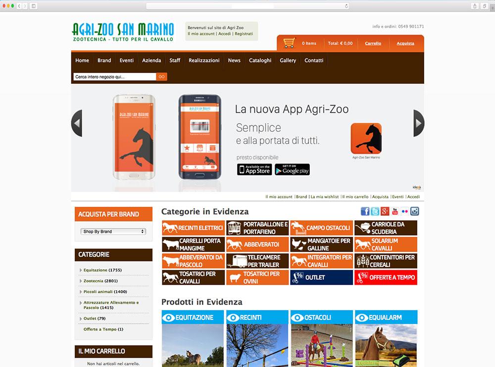 App mobile per negozio Zootecnia