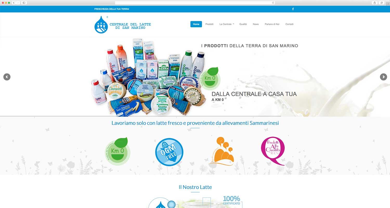 Realizzazione sito web per centrale del latte