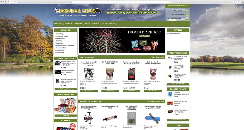 Realizzazione e-commerce Magento pesca sportiva