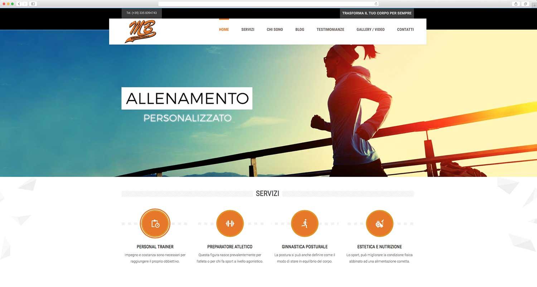 Realizzazione sito web personal trainer mbpersonal-trainer