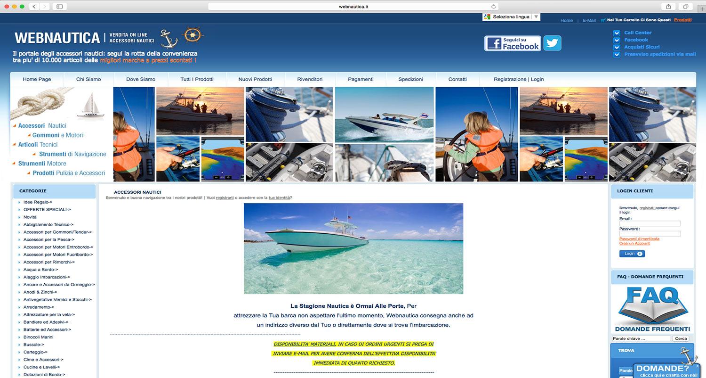 sviluppo e-commerce prodotti nautici