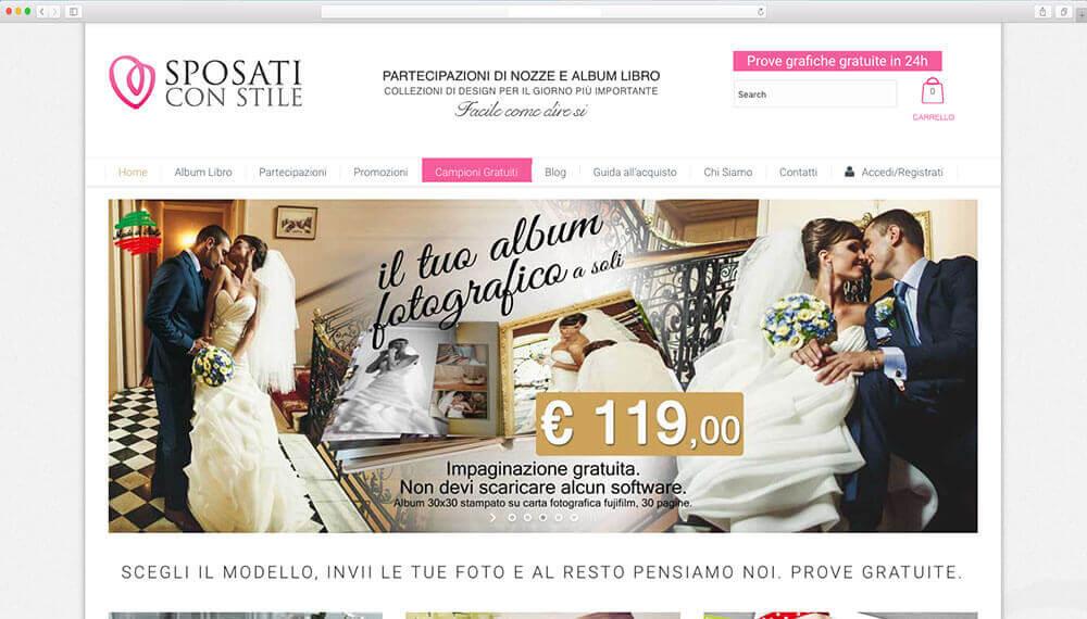 realizzazione sito web book fotografci matrimoni