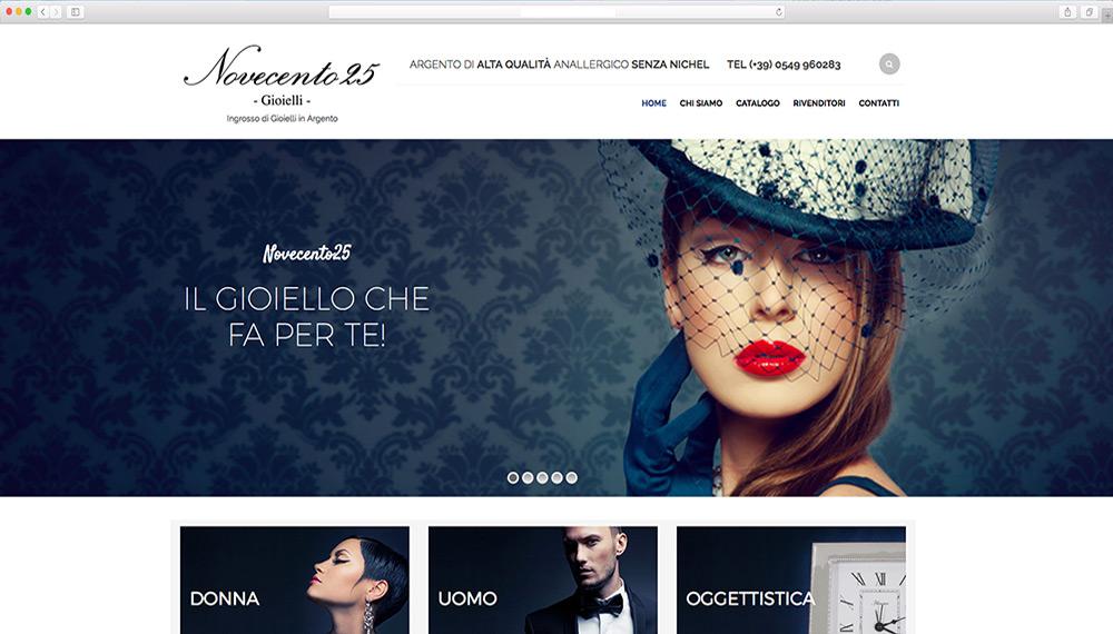 realizzazione shop online gioielli argento 925