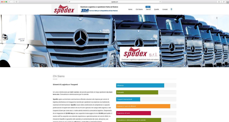 realizzazione sito web logistica spedex