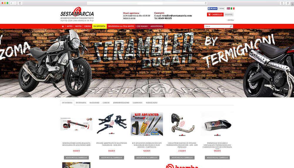 sviluppo ecommerce prodotti motociclisti sestamarcia