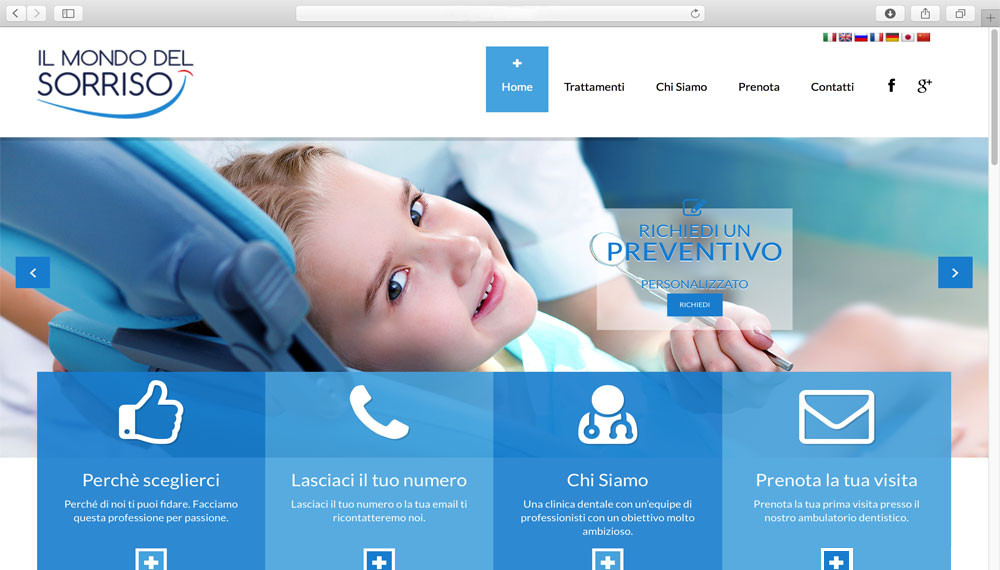 sviluppo sito studio dentistico