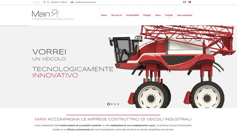 Realizzazione sito web aziendale per veicoli industriali
