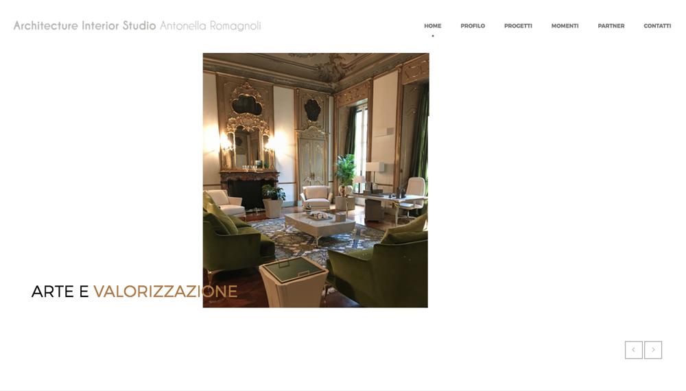 Realizzazione sito web interior designer