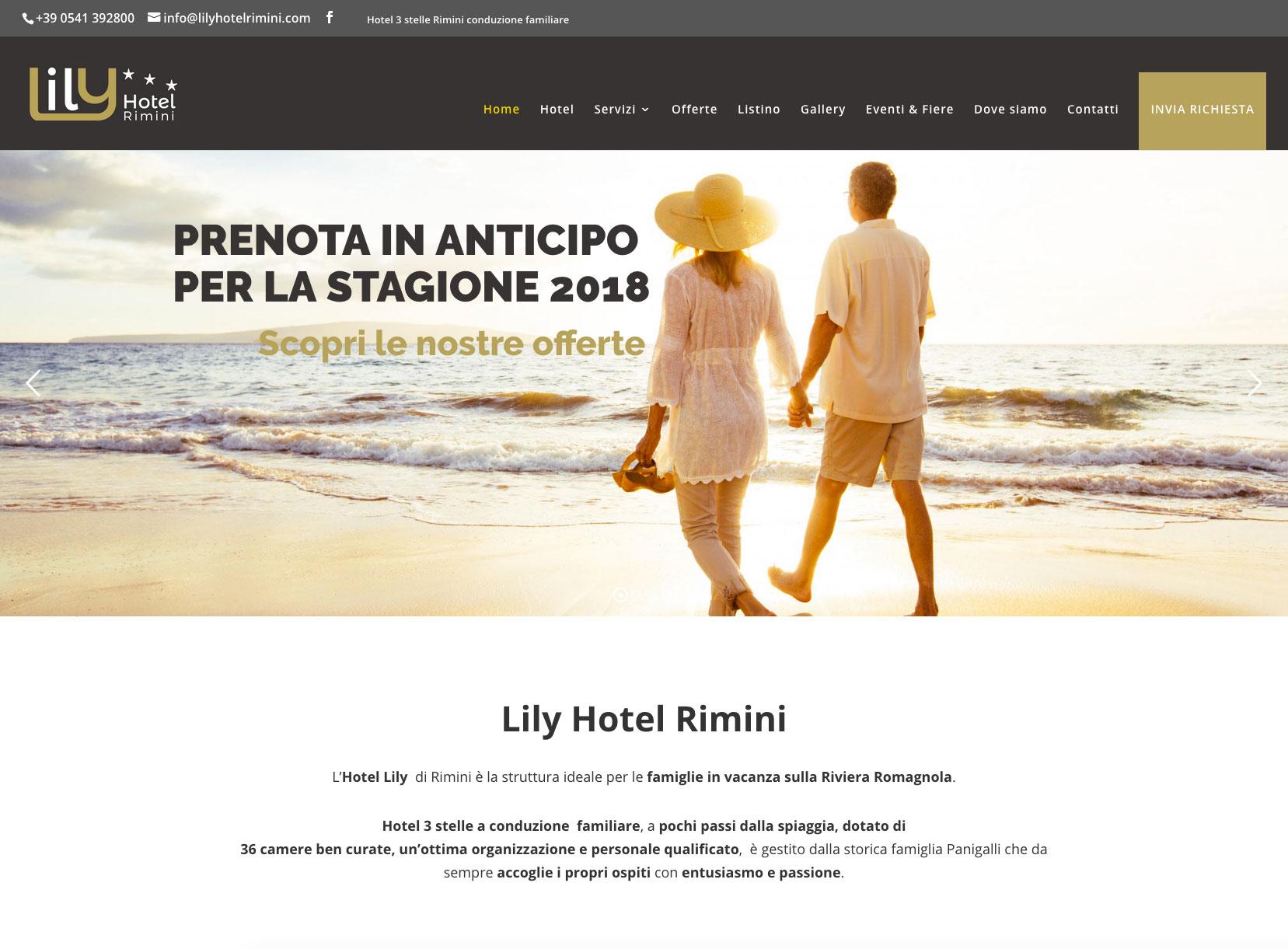 Sviluppo sito web per hotel a Rimini