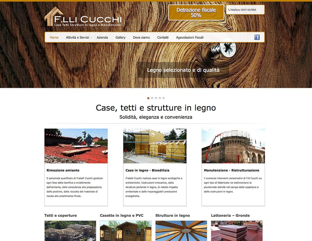 Realizzazione sito web per azienda produttrice case in legno