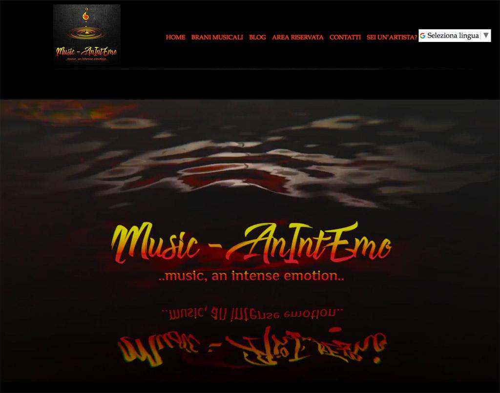realizzazione sito web per artisti musicali